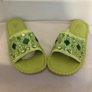 KAMOSA MADE IN SPAIN GREEN  CRYSTALS/ PAILLETES